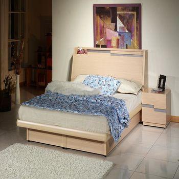 雙子星白橡6呎床頭箱式後掀床台