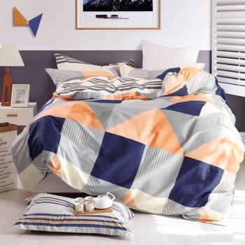 情定巴黎-青春旋律 100%精梳純棉雙人四件式兩用被床包組