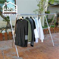 [Amos]不鏽鋼伸縮X型交叉衣架
