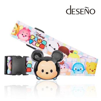 DESENO Disney 迪士尼 TSUMTSUM 可愛造型 立體名牌束帶 行李箱綁帶 米奇 B1135-0007