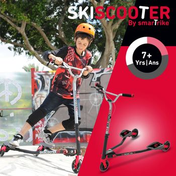 「英國 smarTrike - scooter」競速Z7滑雪滑板車 -追風紅