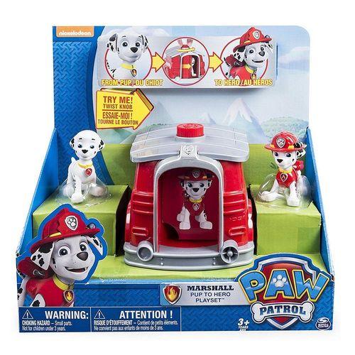 《 汪汪隊立大功 》兒童卡通玩具 - Paw Patrol 變裝小屋 Marshall ( 紅 )
