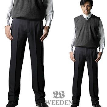 WEEDEN 精緻質感暗斜紋平面西褲‧復刻藍
