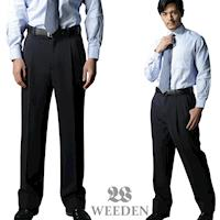 WEEDEN 精緻纖維打摺西褲‧夜曲藍