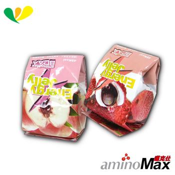 aminoMax 邁克仕 能量磚系列 ENERGE JELLY 能量晶凍(荔枝)(水蜜桃)(各10顆)A090+A100