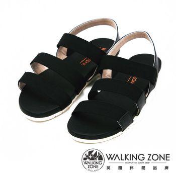 WALKING ZONE 三橫帶直套設計涼鞋 女鞋-黑