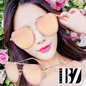 BeLiz雙層金屬鏡框 多角框墨鏡 二色可選