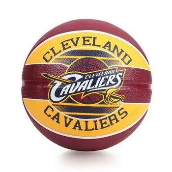 SPALDING 騎士 CAVALIERS 籃球-戶外 NBA 隊徽球 斯伯丁 深咖啡黃