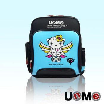 UNME 鏡面 機器人天使 人體工學 減壓後背 書包 後背包 反光設計 台灣製造 3077B