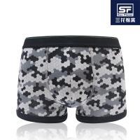 任-【Sun Flower三花】三花貼身平口褲.四角褲.男內褲_蜂巢