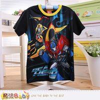魔法Baby 男童裝 變形金剛授權正版涼感短袖T恤~k50490