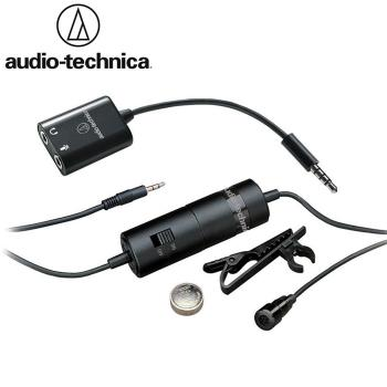 日本鐵三角Audio-Technica領夾式電容麥克風全指向麥克風雙單聲道麥古風ATR3350iS (含手機轉接器adapter)