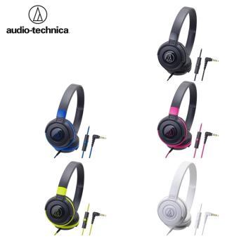 日本鐵三角Audio-Technica耳罩式耳機麥克風密閉型線控耳機麥克風ATH-S100is (配有全指向性電容式麥克風)