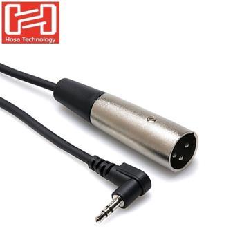 美國HOSA麥克風音源線L型3.5mm TECHNOLOGY TRS轉XLR3M麥克風音訊線XVM-105M (長1.5公尺)