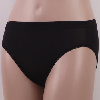 任-【華歌爾】新伴蒂系列 M-LL中高腰舒適小褲(墨黑色)