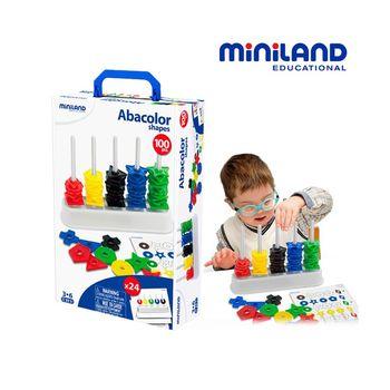 【西班牙Miniland】幾何圖形分類學習疊疊樂 ( 疊片100入 )