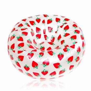 iSFun 甜漾草莓 單人充氣沙發