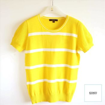 【KIINO】清新明亮雙色調針織衫 0861-1955