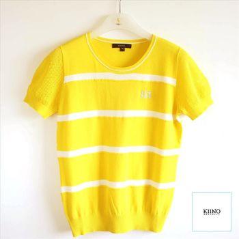 【KIINO】 M字亮鑽氣質條紋針織衫 0861-1965