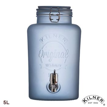 【KILNER】冰雪藍派對野餐飲料桶 5L
