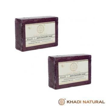 即期特賣~印度Khadi-草本薰衣草手工精油香皂(6入特惠組)