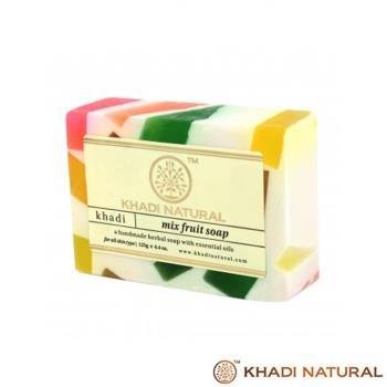 即期特賣~印度Khadi-草本綜合水果手工精油香皂(6入特惠組)