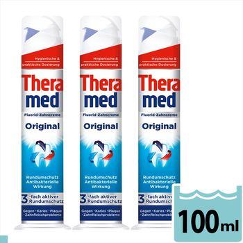 德國 德拉美 Theramed Original(防護抗菌) 牙膏 100ml  3入