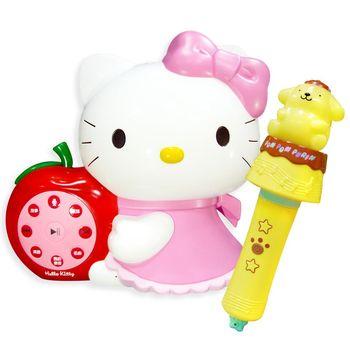 KITTY幼兒啟蒙教育遊戲機故事機+布丁狗音樂棒故事機-台灣製造
