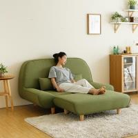 【日本MODERN DECO】Ruhe圓潤寬敞雙人腳凳沙發-6色