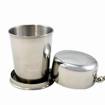 iSFun隨身攜帶 不鏽鋼迷你伸縮杯