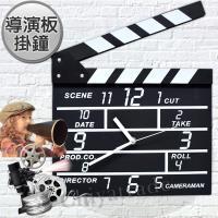 【創意MOVIE SET CLOCK】導演一生 數字時鐘 造型掛鐘 創意壁鐘 空間擺飾 導演板 場記板