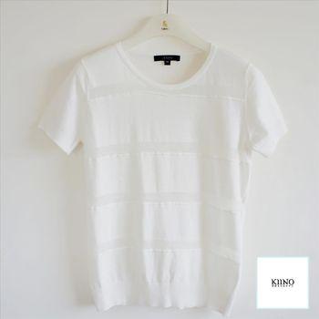 【KIINO】優雅單色層次織紋針織衫 0861-1957