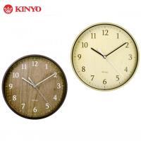 KINYO 北歐風格-9吋自然風木紋掛鐘