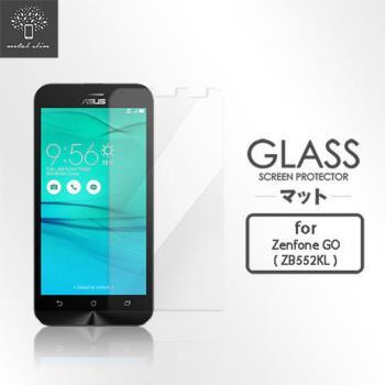 Metal Slim ASUS ZenFone GO (ZB552KL) (非滿版) 9H弧邊耐磨 防指紋 鋼化玻璃保護貼