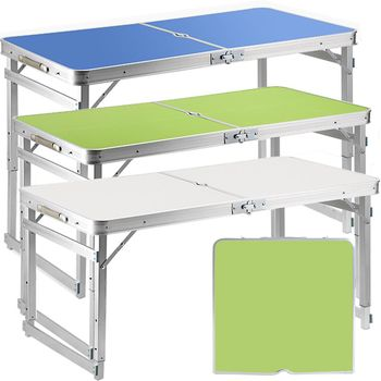 新改良優質鋁合金升降摺疊桌(加粗加厚款)