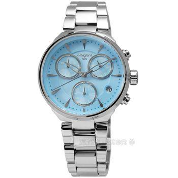 elegantsis / ELJH06-JU03MA 簡約優雅魅力三環不鏽鋼腕錶 藍色 36mm