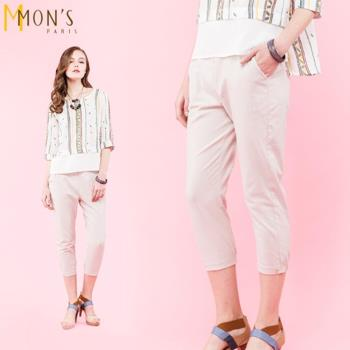 MONS國際專櫃彈力亞麻褲