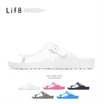 Life8-Casual 輕羽量 夾腳式 漂浮涼拖鞋-09630-白色