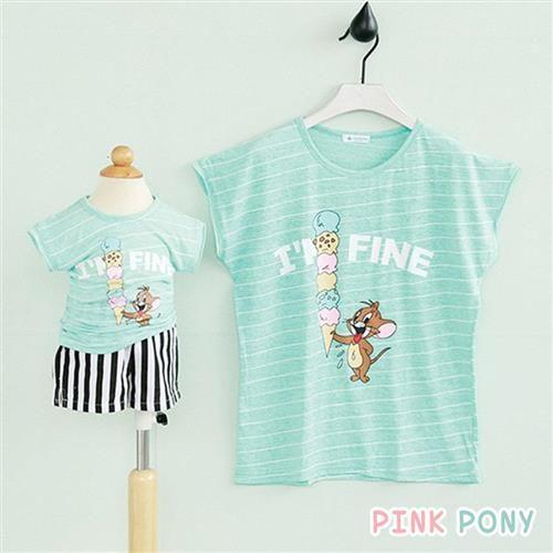 PINKPONY-傑利鼠親子裝-綠色