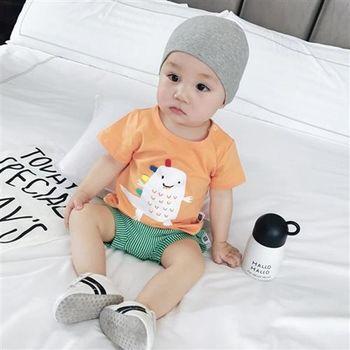 PINKPONY-小恐龍休閒T恤-橘色