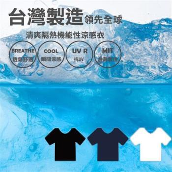耐酷涼感衣-男圓領T(藍)