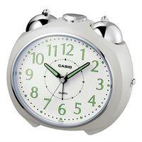 【CASIO】圓弧流線造型鬧鐘-白(TQ-369-7)