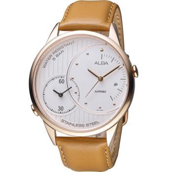 ALBA 雅柏 日系潮流大錶徑腕錶 DM03-X002J 皮帶款 AZ9014X1