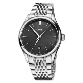 Oris豪利時 Artelier 日期機械錶 灰 40mm 0173377214053-0782179