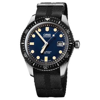 Oris豪利時 Divers Sixty-Five 1965 潛水系列機械錶 藍 0173377204055-0752126FC