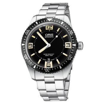 Oris豪利時 Divers Sixty-Five 1965復刻機械錶 黑 40mm 0173377074064-0782018