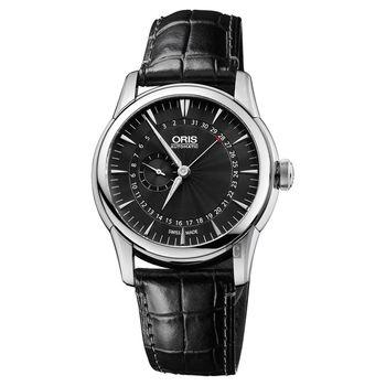 Oris豪利時 Artelier 小秒盤指針式日期機械錶 黑 42mm 0174476654054-0752271FC