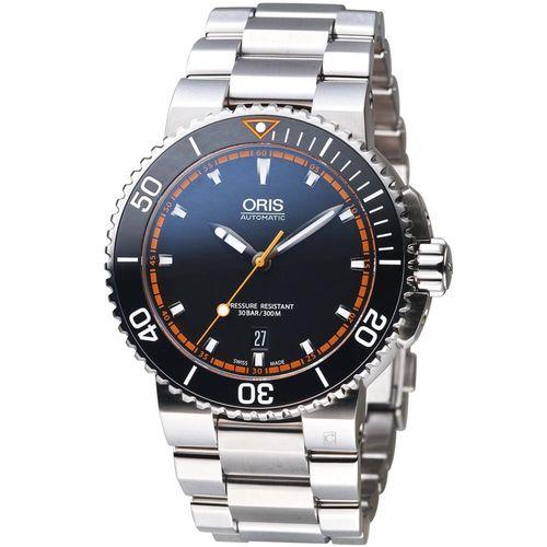 Oris豪利時 Aquis時間之海系列潛水機械腕錶 0173376534128-0782601PEB