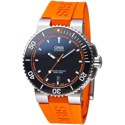Oris豪利時 Aquis 專業潛水 機械錶 0173376534128-0742632EB