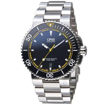 Oris豪利時 Aquis時間之海系列潛水機械腕錶 0173376534127-0782601PEB